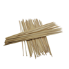 Hot Sale Disposable Outdoor BBQ Flat Bamboo Sticks Skewers With Customer Logo