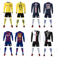 Best quality New Model wholesale original sports sublimation team custom football uniform soccer jersey set soccer wear