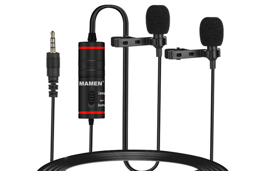 KM-D1 Universal Clip on Lapel Microphone For Interview Lavier Microphone For Camera/Cellphone