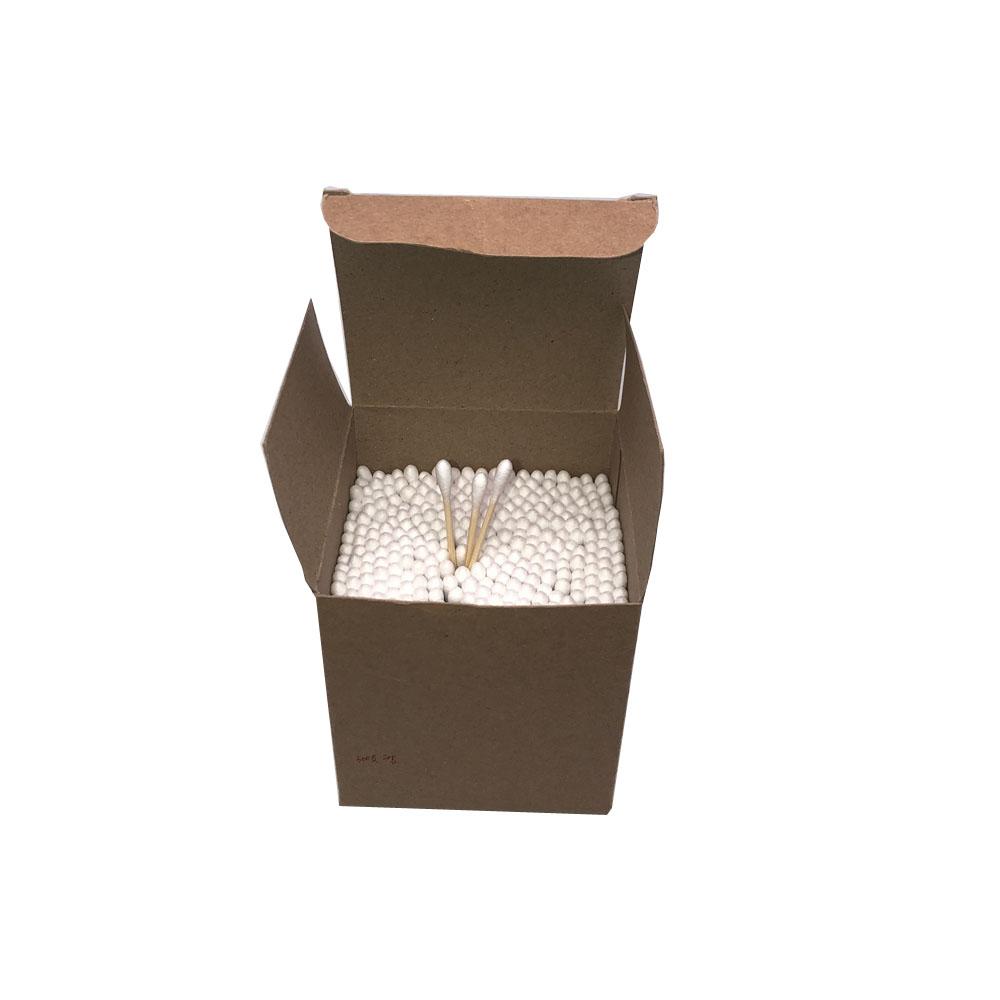 Usa e getta bastone di bambù scatola di carta auricolari bastoncini di cotone