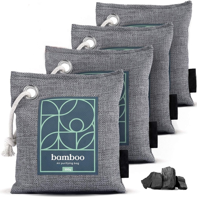 House Edition Bamboo Charcoal Air Purifying Bag Naturally Freshen Air with Powerful Activated Charcoal Bags Odor Absorber