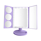 Tri-fold vanity hollywood LED Make up Mirrors with light