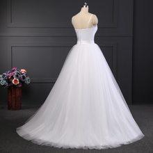 Платье на бретельках LORIE, Пляжное, свадебное, белое, с поясом, из тюля, свадебное бохо-платье А-силуэта, 2020(Китай)