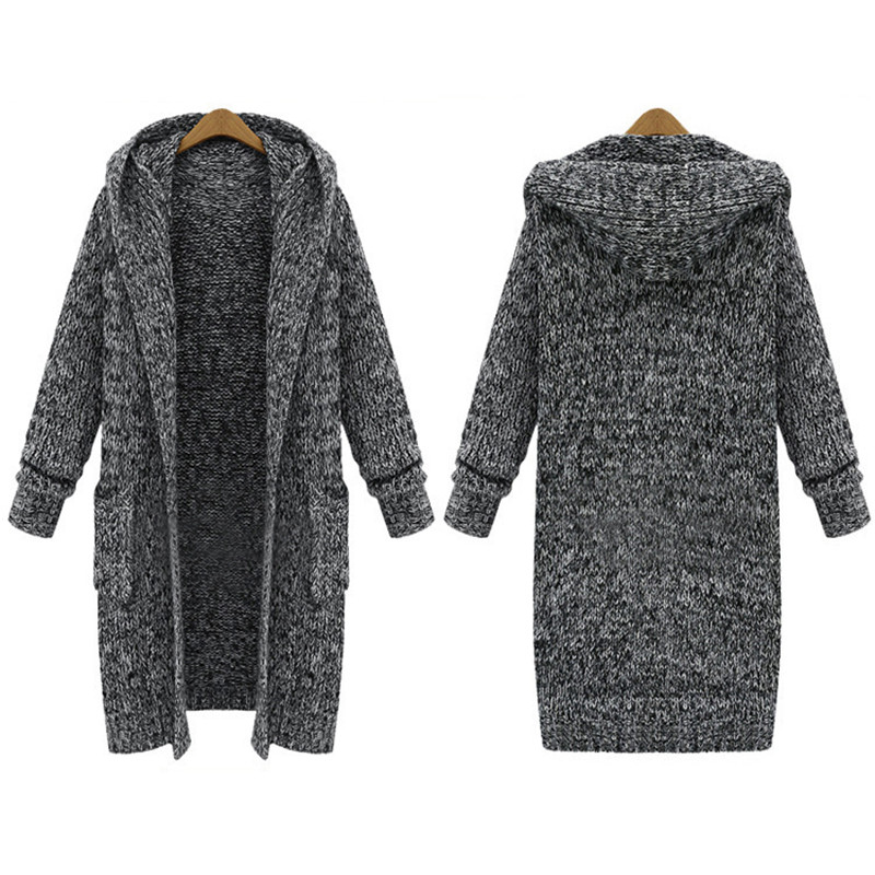 New Women <strong>Long</strong> <strong>Cardigans</strong> <strong>Black</strong> Thick Plus Size Knitwear Knit Thicken Sweaters Coats <strong>Cardigan</strong> Jacket Outwear Winter Warm Clothing