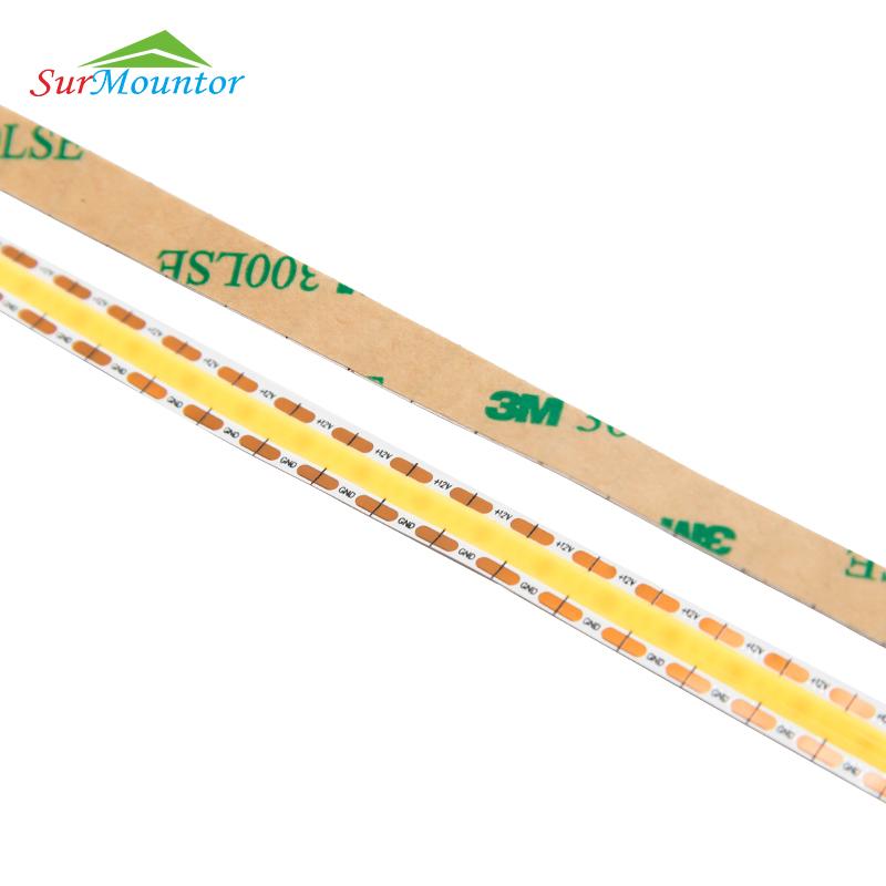 Cut Every 7.5mm Dotless Flexible COB LED Strip Light 528leds for 12V LED Linear Light