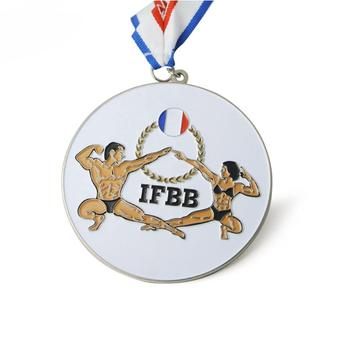 Bodybuilding customize sport metal medal with your logo