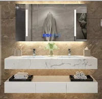wall mounted vanity units for small bathrooms with marble top ,Bathroom Vanities Furniture Mirror Cabinet