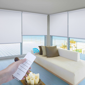 Wireless remote control battery waterproof roller blinds smart electric motorized window shades and blind