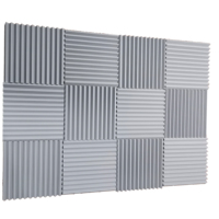 Hot Sale Pyramid Wedge Wave Studio Panels Acoustic Foam For Home Theater Studio