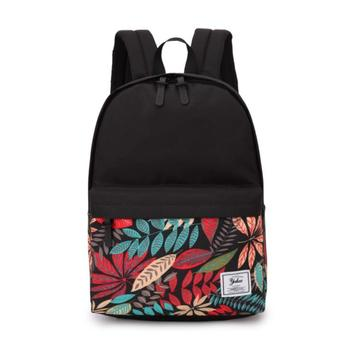 2020 American Fashion Korean Harajuku Style Custom Backpack Printing Designer Leaves Floral Canvas Laptop Backpack