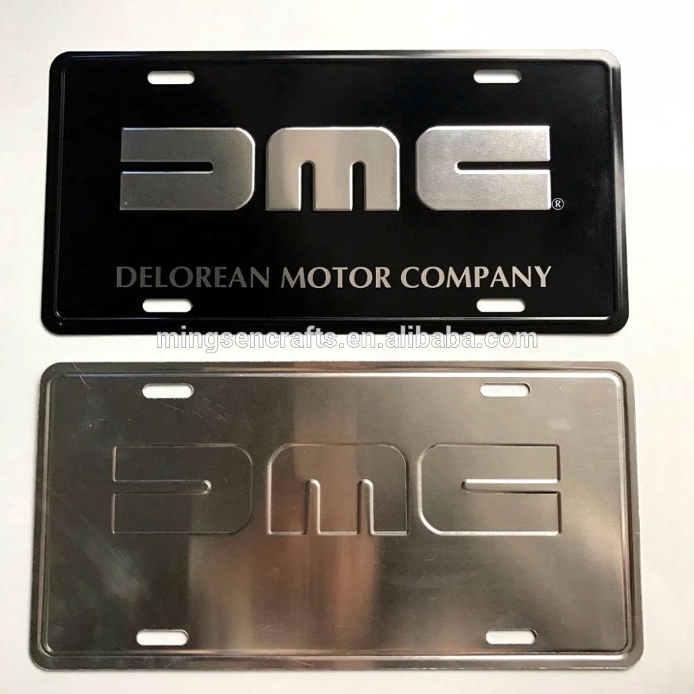 high quality custom embossed aluminum car license plate