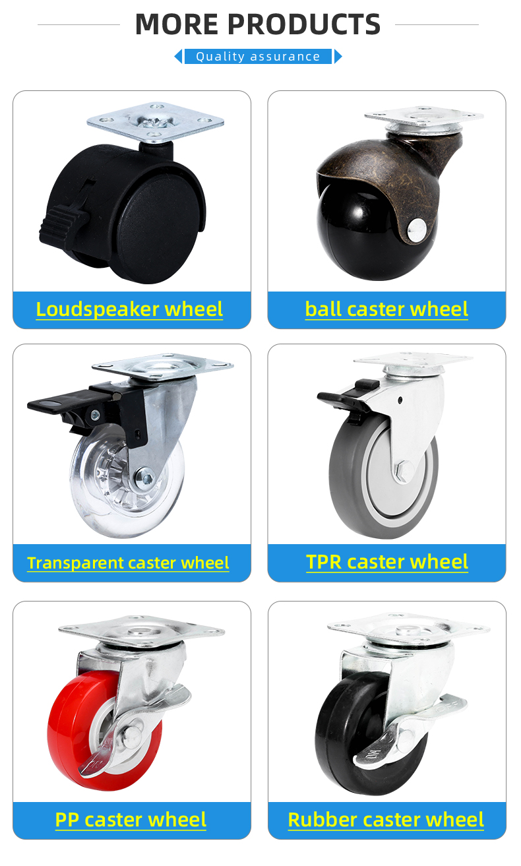 4 5 6 8 Inch Solid Pu Licht Duty Vaste Plaat Ijzer Zwenkwiel Voor Opslag Pallet Winkelwagen Trolley
