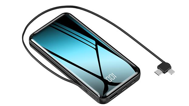 Capacità di alta Qualità Built-in Cavo 20000 mah Banche di Potenza 20000 mah Banca di Potere Powerbank per il iphone
