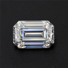 Artificial gemstone moissanite yellow white loose Emerald cut closest to the diamond level price per carat for rings jewelry