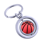 Personalized football shaped keychain golf ball keyring basketball key chain