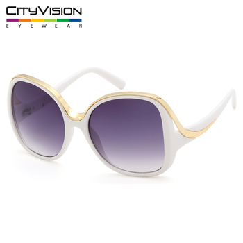 New design big square frame oversized white party ladies sunglasses