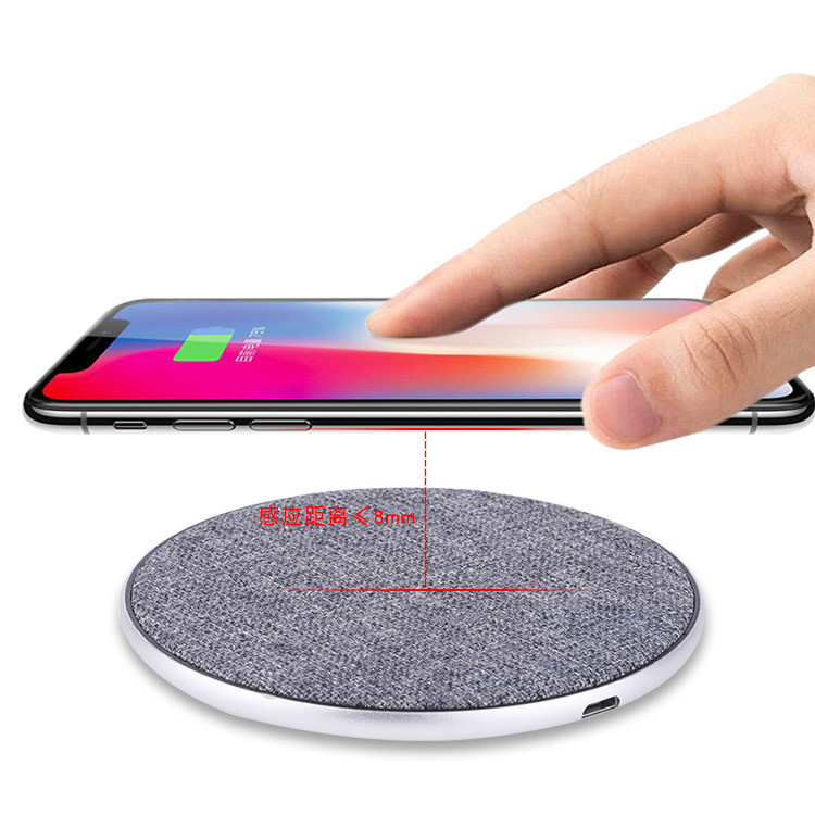 Wholesale Fabric Qi Wireless Charger Fast Charging Phone Charger Pad For iphone X For Samsung