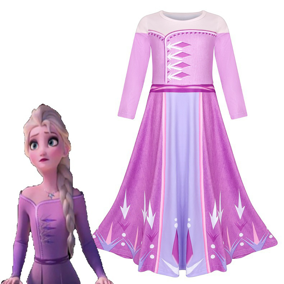 Girls  latest Cosplay Party Dress Up  Elsa Anna  Princess Suit Girls Kids Halloween cosplay Party  Dress Costume