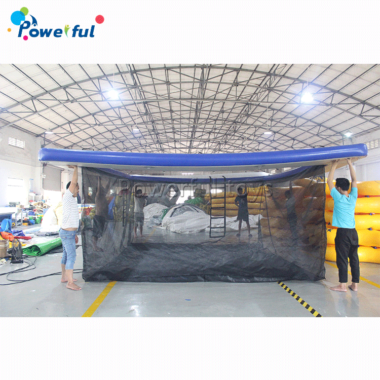 Outdoor inflatable float ocean water pool for open sea swimming