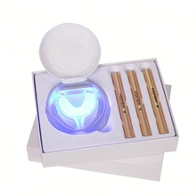 Kualitas Tinggi Paket Bleaching Jarum Suntik 16LED Light Teeth <span class=keywords><strong>Whitening</strong></span> Kit