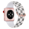 checkered pattern silicone watch band for apple watch