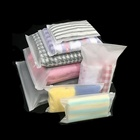 Custom Frosted Zipper Bags T Shirt Swimwear Plastic Packaging Zip Lock Clothing Bags With