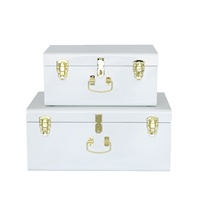 Home Decorative Storage Steel Metal Trunk box with Lock