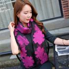 Fashion Trendy Custom Packing Soft Chiffon Ladies Scarves Shawls