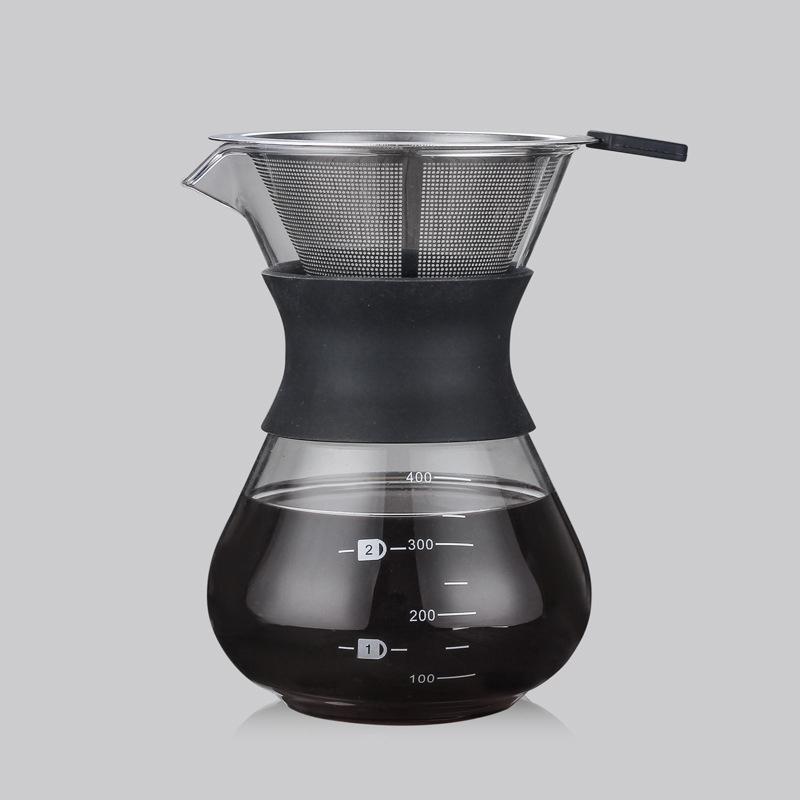 Стеклянный чайник-капельница, чайник с фильтром из нержавеющей стали, термостойкая эспрессо, бариста, Перколятор, Moka Pots(Китай)
