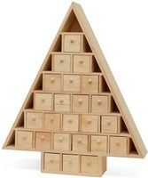 Christmas Tree Advent Calendar with Drawers Unfinished Wooden Advent Calendar for DIY Craft