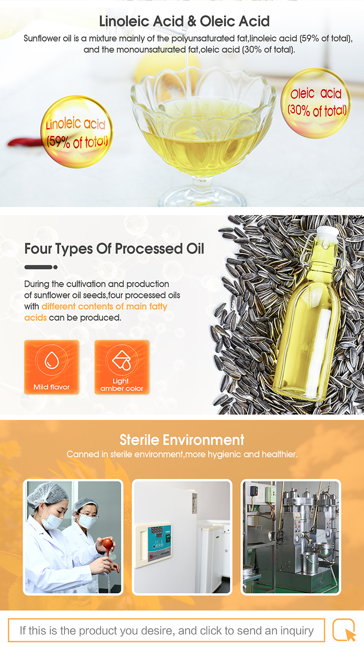 High Grade crude refined sunflower oil for food