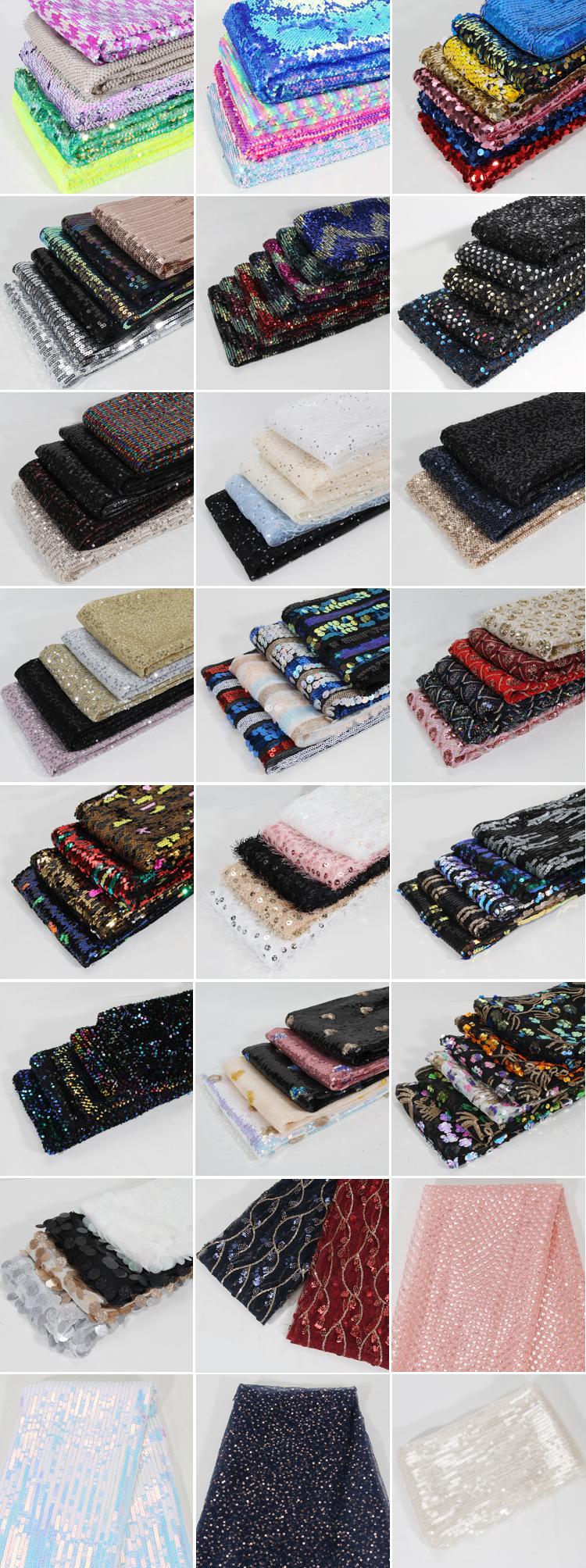 Berkilauan Peregangan Poliester Mesh Dasar Ular Payet Kain untuk Home Textile
