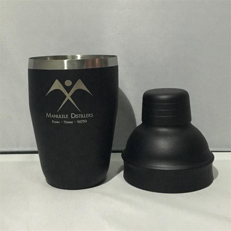 Premiums 25oz 750ml Stainless Steel Bar Black Matte Painting Cocktail Martini Rum Vodka Shaker Mixer+Customized Color&Laser Logo