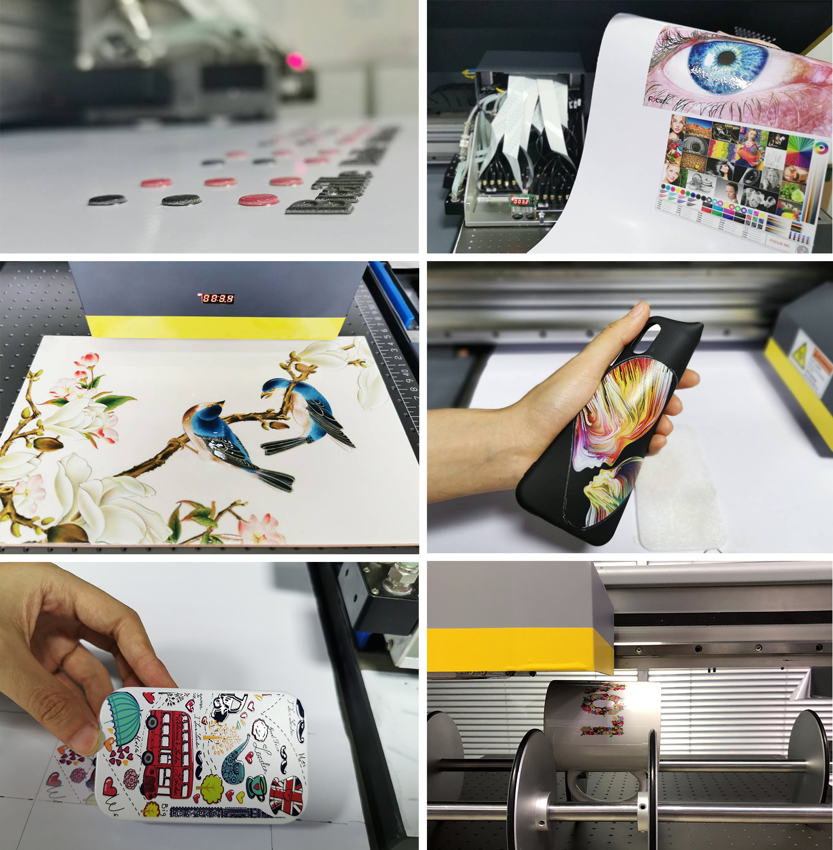 inkjet uv printer for metal glass ceramic tile custom tpu cell cover uv printer  a2 uv flatbet printer