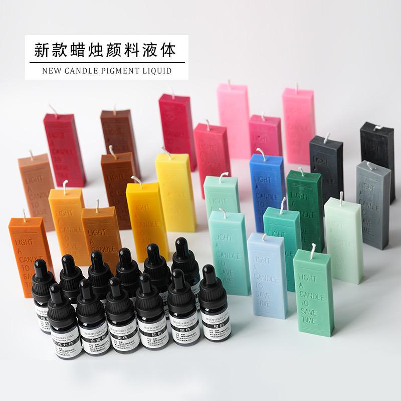 Ins estilo baja saturación vela líquido pigmento brisa perfumada vela Diy tinte vela