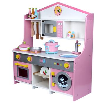 Hot Sale Role Play Japanese Wooden Kitchen Set Toys for Children