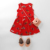 2020 Children summer dresses for girls red color 100% cotton cute print sleeveless boutique frocks dress in stock