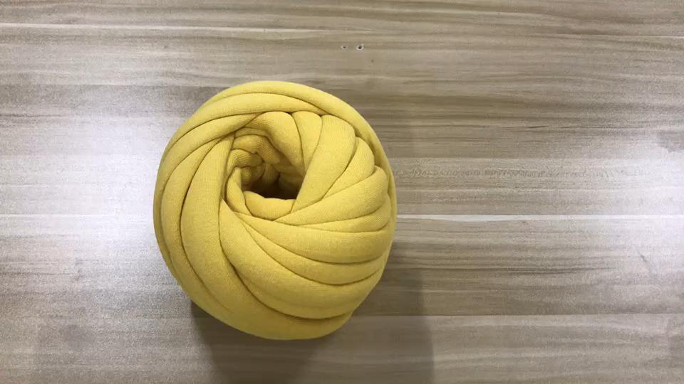 100% 면 빨 수 있는 빈 섬유 채워진 튜브 브레이드 손 뜨개질 폴리 에스터