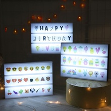 LED Light Up A6 Cinema Carta Lightbox Publicidade Mini Caixa de Luz Decorativa Com Letras
