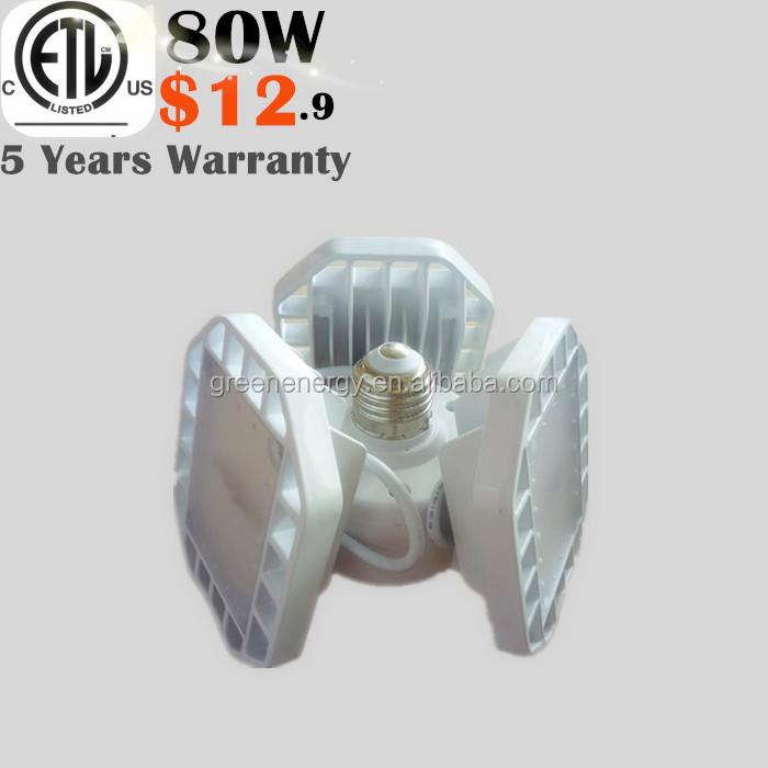 shenzhen green energy factory 80W 10400lm LED Security garage strip detailing Motion Sensor indoor Light etl listed low price