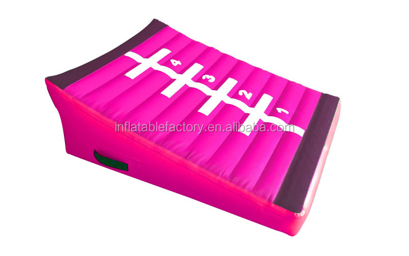 Customized inflatable  incline gymnastics shapes slope wedge gym mat for gymnastics tumbling