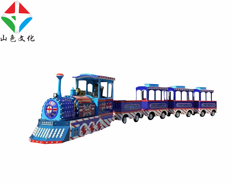 Kids Amusement Park Outdoor Lighted Christmas Trackless Train Rides For Sale