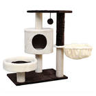 Cat Tree Condo Furniture Kitten Activity Tower Pet Kitty Play House with Scratching Posts Perches Hammock