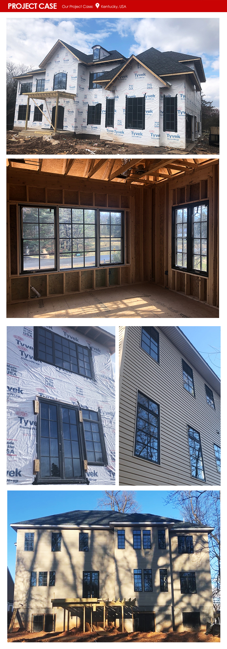 American wooden Factory cheap price crank out awning windows and push casement