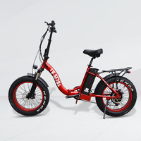"2019 Newest 20"" foldable 48v 500w 750w fat tire electric bike bicycle"