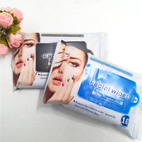 10pcs Non woven Spunlace face care make up remover wet wipes