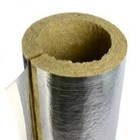 Heat resistant thermal insulation foil mineral rock wool pipe and fireproof high density rockwool tube for insulation