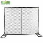 One-Stop Service Fence Chain Link Iron Metal Panel Temporary Fence Panels Australia Chain Link Base Plate Metal