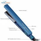 Nano titanium blue hair straightener and private label ceramic flat iron