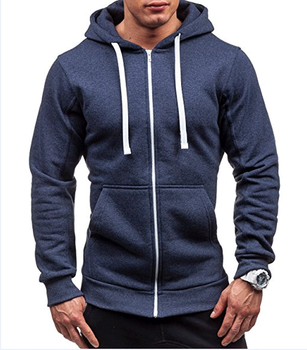 Mens Fall Casual Slim Fit Zipper Hoodies Lightweight Hoodie Jacket